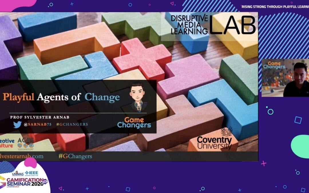 Gamification Seminar 2020 Keynote by Prof. Arnab: Playful Agents of Change